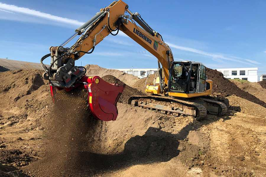Przesiewanie ziemi budowlanej